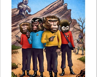 Monkey Trek-  8 x 10 signed print