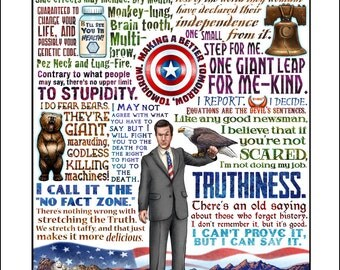 Truthiness- Stephen Colbert tribute signed print