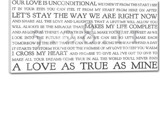 Geezees  I Take you to be my Wife Wedding Sign Canvas Word Art  Wedding Art  15X30 inch ready to hang gallery wrapped