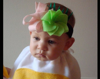 Ready To Ship... HEADBAND ONLY... Free Shipping... Sushi Halloween Costume Headband with Wasabi Ginger Sushi Grass Baby Kids DIY