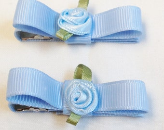 Blue Hair Clips|Toddler Hair Clips|Girls Hair Clips|Barrettes And Clips|Solid Color Clips|Hair Accessories