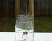 Wedding Unity Candle Vase, PERSONALIZED Engraved Candle Holder, CUSTOM MADE Wedding Ceremony Decor, Floating Candle