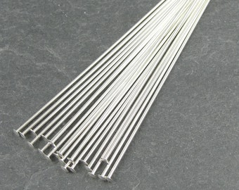 "20 STERLING SILVER Headpins - 22 Gauge 2"" Sterling Head Pin Findings - Sterling Findings 2 Inch 22 g Pins"