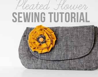 Pleated Flower Sewing Tutorial - Instant Download