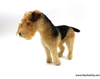 1940s Steiff Airedale Terrier Handmade German Toy