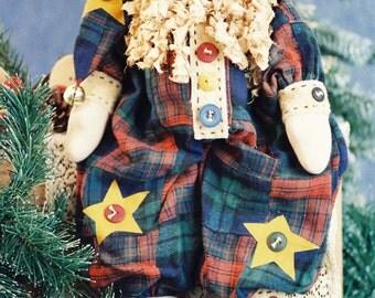 Cloth Doll E-Patterns - 19in Folk Art Christmas Santa