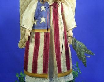 Cloth Doll E-Pattern- 23in Americana Folkart Angel Epattern