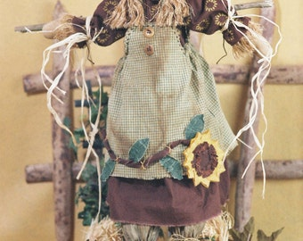 Cloth Doll E-Patterns 24in Autumn Girl Scarecrow Epattern
