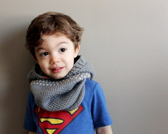 kids whistler knit cowl in ICEBERG (2T/3T) - hoodie - vegan friendly - unisex