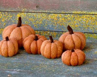 Pumpkin Needle felting kit's extra wool to make 3 more pumpkins