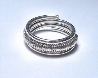 Wedding Band,  Men's wedding ring,  Women's wedding ring,  Argentium Streling Silver,  Made to Order