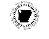 Custom Address Stamp - Style: State Razorback Bold Dots