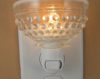 Pressed Glass Clear Moonstone Hobnail Glass Tea Cup Custom Night Light Without Handle