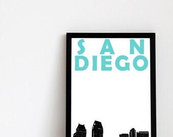 San Diego Print // California Art Print