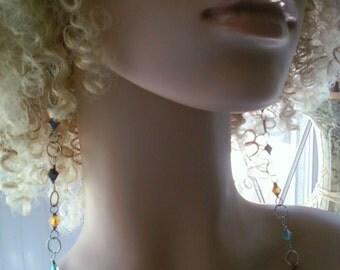 Beautiful Beaded Long Earrings, Women's Earrings, Handmade Earrings, Dangling Earrings