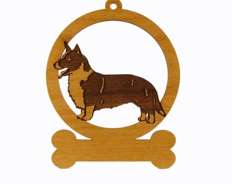 Corgi Cardigan Ornament 082196 Personalized With Your Dog's Name