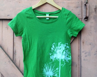 Agapanthus Organic Cotton Scoop Neck - Grass Green