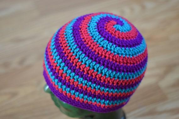 Helix Hat CROCHET PATTERN spiral beanie