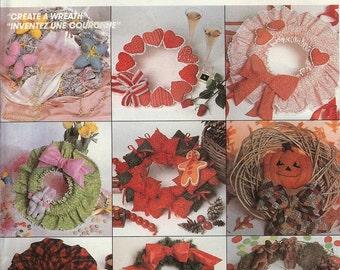 "McCall's UNCUT Craft Pattern P902 - ""Create A Wreath"" Package"