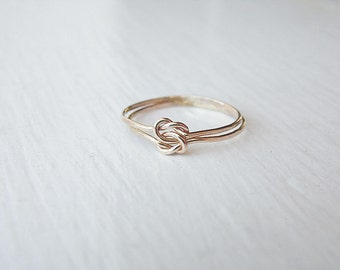 Double Love Knot Ring 14k Gold Fill