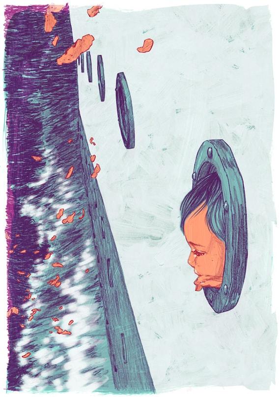 """Nine Stories - Teddy - 13"""" x 19"""" Fine Art Print by Jonny Ruzzo"""
