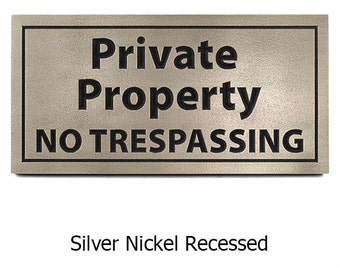 Private Property, No Trespassing, Home Privacy Signs 14x7 inches custom for you