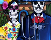 Mexican-American Gothic -  Day of the Dead Art by Melody Smith