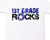 Back to school shirt - first grade or any grade rocks back to school Tshirt