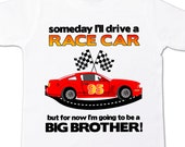 big brother shirt race car perfect pregnancy announcement for the big brother to be racing fan