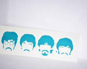 The Beatles Fab Four Precision Cut Vinyl Car Window Decal Sticker