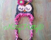 All sizes are ready to go Newborn crochet owl hat, newborn Halloween costume,newborn owl prop, baby girl owl hat,  crochet owl hat.