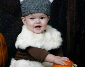 Viking HAT Renaissance Newborn 3m 6m Crochet Photo Prop Baby Clothes Boy Girl Gender Neutral Football  Fall Winter 2016