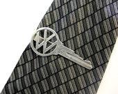 Volkswagen Key Tie Clip Clasp Bar Silver Vintage VW Car Key 164