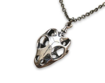 Two for One Sale...Skink Skull Necklace Silver Skink Lizard Skull Pendant Necklace Silver Skink Jewelry 121