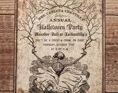 Halloween Invitation DIGITAL PRINTABLE DOWNLOAD Macabre Ball Skeleton