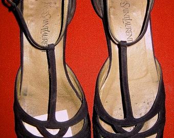 Vintage Black Yves Saint Laurent Mary Jane
