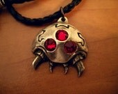 BACKORDER Silver Parasite Pendant  - video game jewelry geekery nerdy necklace