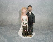 Personalized Bride & Groom Wedding Cake Topper