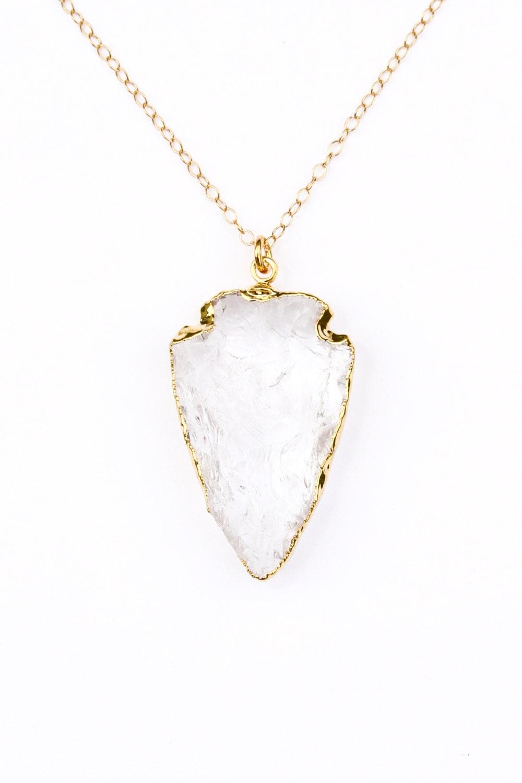 crystal quartz arrowhead necklace gold arrowhead necklace. Black Bedroom Furniture Sets. Home Design Ideas