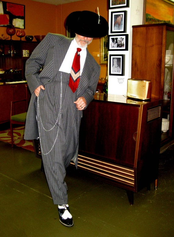 Charcoal Gray Striped Zoot Suit The Real Deal Beautifully