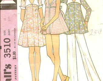 1970s Vintage Sewing Pattern - Maternity Dress Pattern - Maternity Bathing Suit Pattern- Maternity Pants Pattern - McCalls 3510