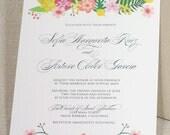 Meadow Florals, Eco-Friendly Wedding Invitation Sample