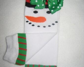 Boutique baby Legwarmers snowman newborn to 6 months