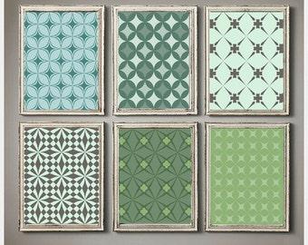 Geometric Retro Patterns Wall Decor Set Of 6 Family Art