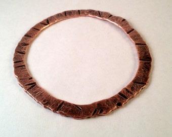 Primitive Forged Copper Bangle Bracelet - Copper Bangle - Handmade Copper Bracelet