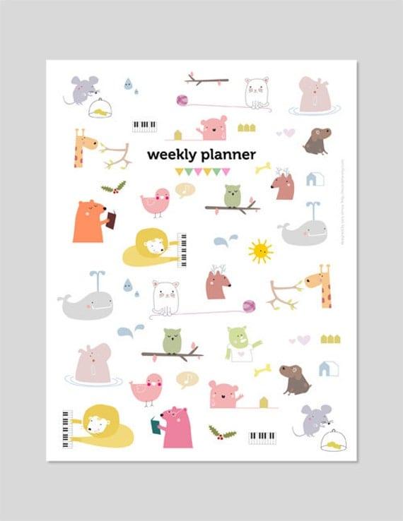 2017 calendar planner printable