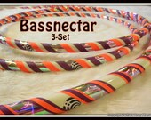 NeW - 'BASSFACE 3-Pack' - GLoW In The DaRK & UV Reactive BASSNECTAR Decal Hoop AnD Mini Twins Set - Choose All Colors.