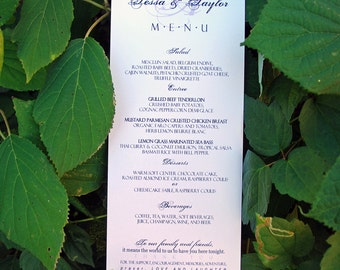 Script Monogram Design - Tea Length Wedding Dinner Menu