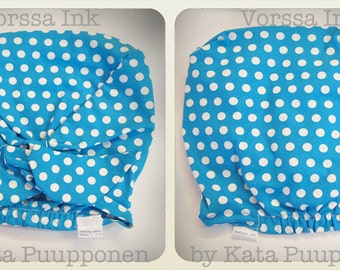 Pin Up Rockabilly style baby scarf TURQUOISE polka dot