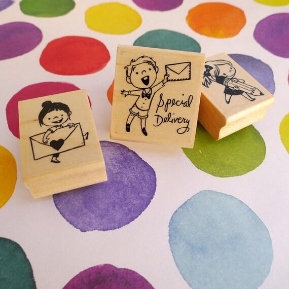 Pen Pal Rubber Stamps